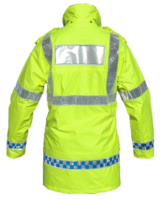 Hi Viz Breathable Waterproof Ventflex Coat Klickfast Security HVVF01A