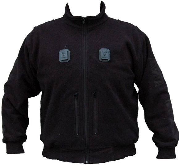 Ex Police Black Zipped Fleece with Klickfast Docking Clips Security Grade B
