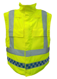 Ex Police Sat Sioen Hi Vis Body Armour Cover Security !COVER ONLY!