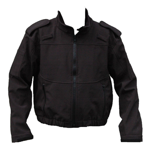 Ex Police Tactical Black Full Zip Uniform Softshell Jacket Security Grade B