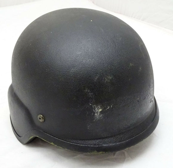 Ex Police Black RBR F5 PASGT Ballistic Helmet Made With Kevlar Medium OH32