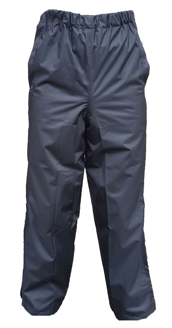 Bundle Of 2 x Ex 100% Polyester Black Waterproof Over Trousers