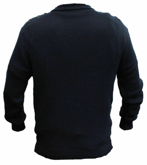 Bundle Of 5 x Navy Blue Nato Jumper Pullover Acrylic & Wool