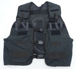 Ex Police Black Remploy Frontline Hydration Tactical Vest MK2 No Pouch & Bladder