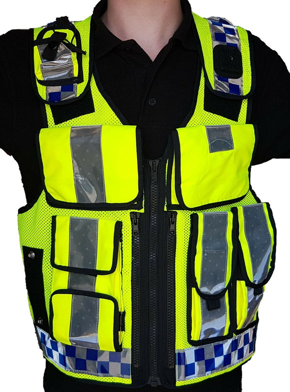 Hi Viz Tactical Load System Tac Vest Security Dog Handler Marshal HV06