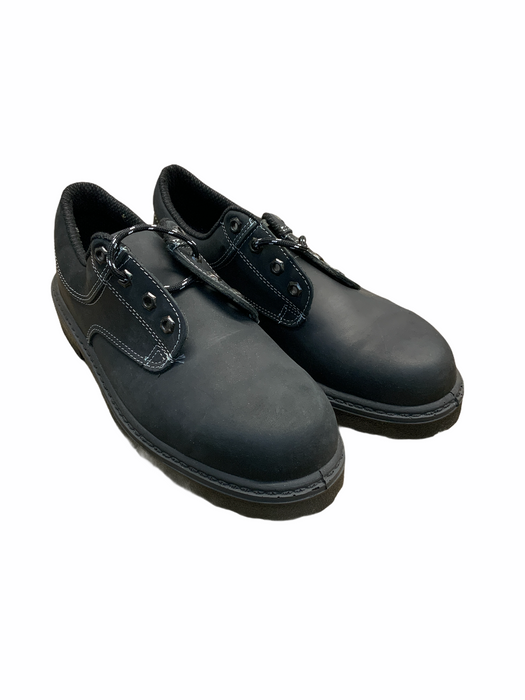 New Tuf Black Leather Safety Shoes OS02
