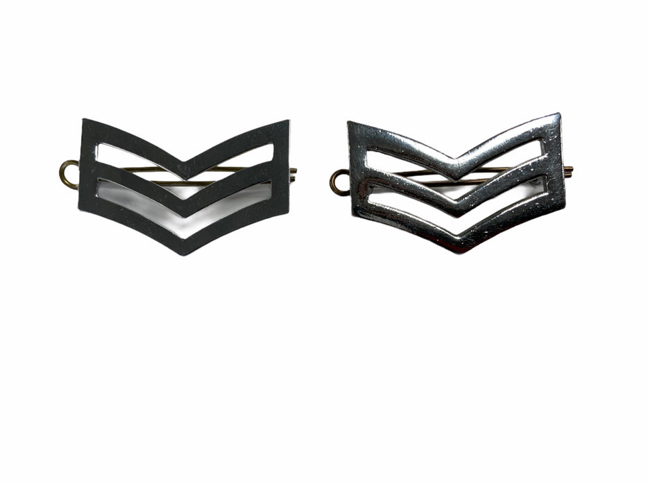 Chrome Metal Sergeant Stripes Police Prison Service Split Pin Backing