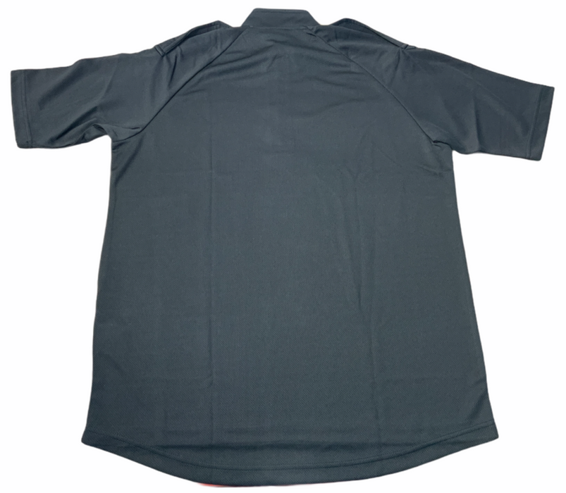 Male Black Breathable Wicking Shirt With Epaulettes Security Dog Handler