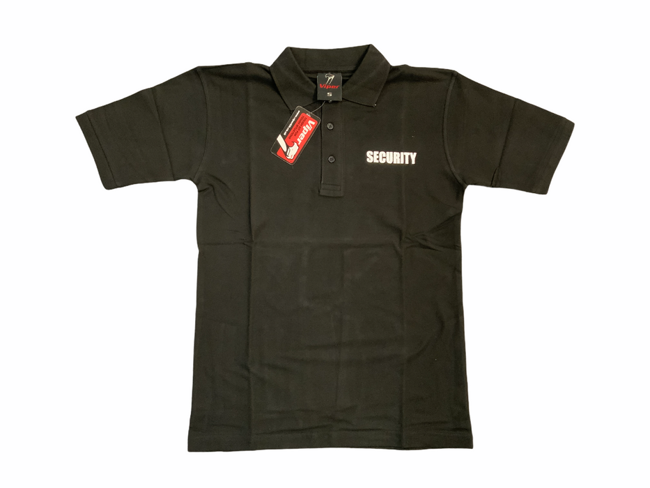New Viper Male Black Security Printed Polo Shirt