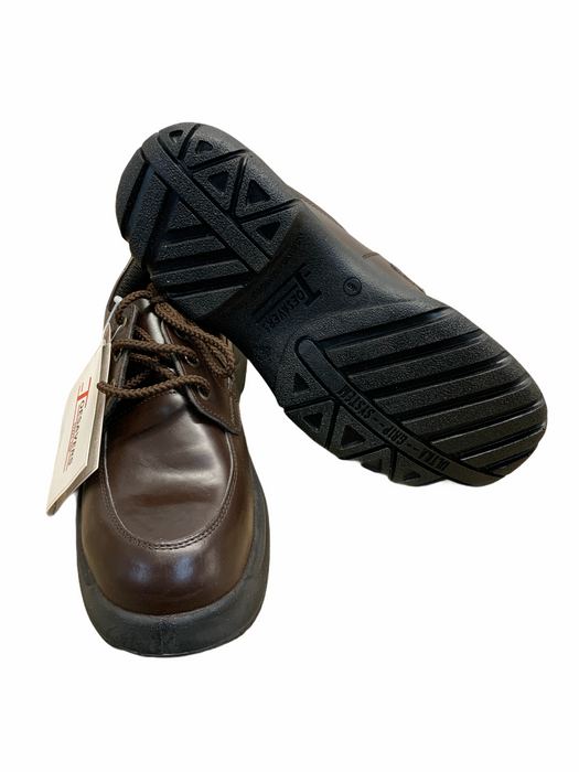 New (with defects) Toesavers Brown Steel Toe Cap Safety Shoes OS09