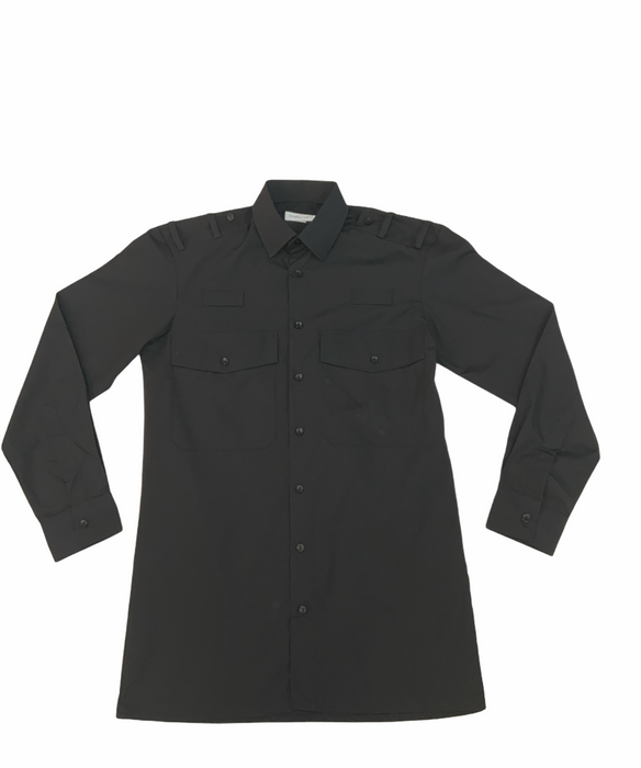 New Double Two Female Long Sleeve Black Shirt Uniform Security Prison
