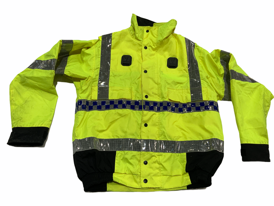 Hi Vis Waterproof Polyester Bomber Jacket Recovery Security Dog Handler HVPBJ1B