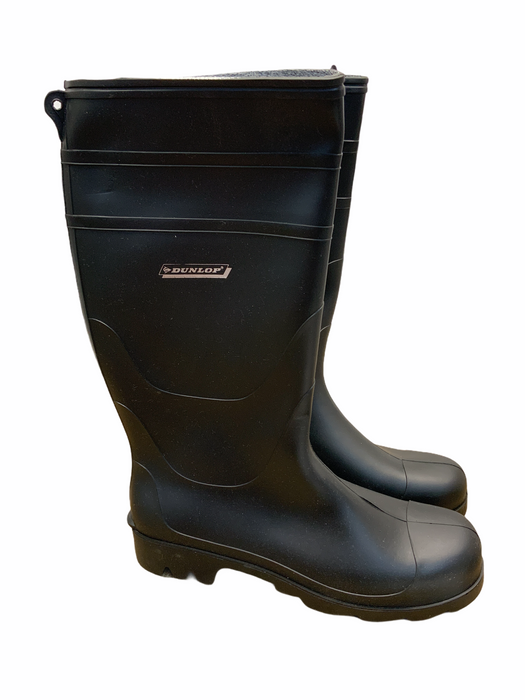 New Black Dunlop Festival Wellington Boots Wellies DUNLOP02N