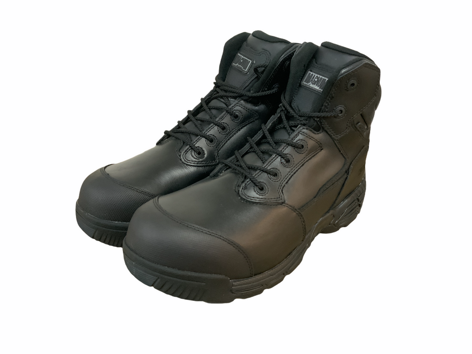New Magnum Stealth Force 6.0 Side Zip & Lace Up Black Combat Tactical Boots UK14