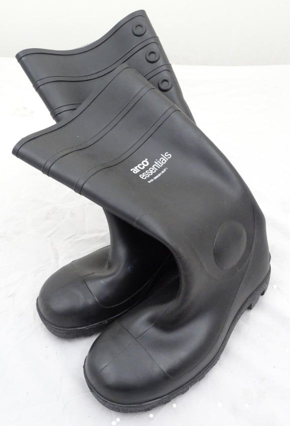 Black Arco Essentials Steel Toe Cap Wellington Boots