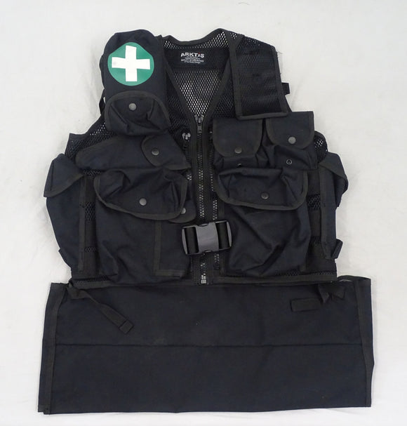 Arktis Black Tactical Medic Vest Tac Vest K175 P423T Security Dog Handler BV06