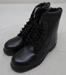 Black Leather All Terrain Boots (ATB) with Steel Toe Cap and Steel Midsole AN