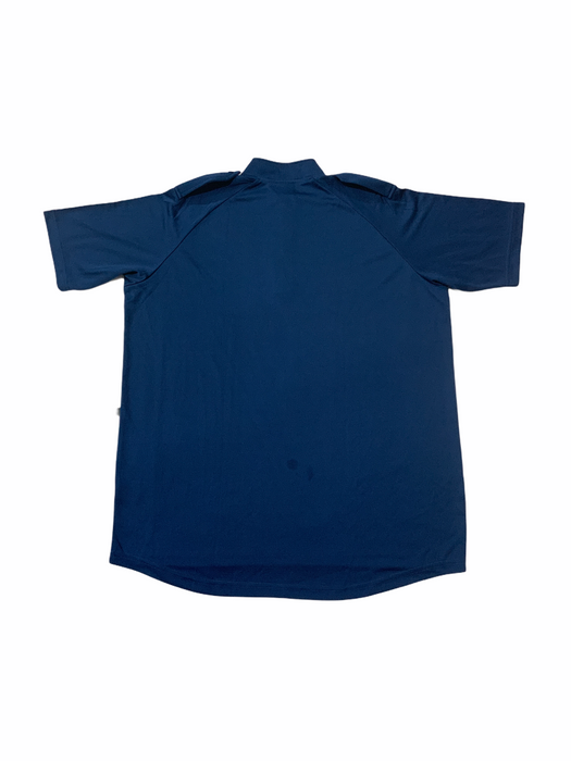New Male Blue Breathable Short Sleeve Wicking Shirt With Epaulettes Security