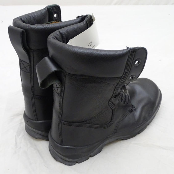 Used BATA Black Leather Steel Toe Cap Boots Tactical Military Style 2