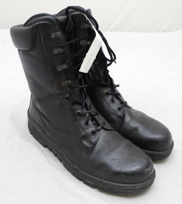 Used BATA Black Leather Steel Toe Cap Boots Tactical Military Style 3