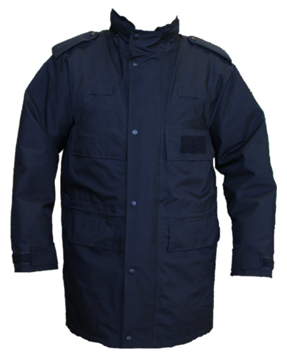 New Black 3/4 Goretex Waterproof Rain Coat Security BGC04N