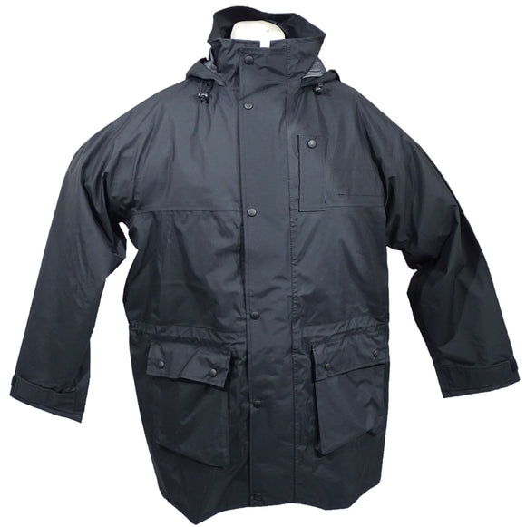 Black 3/4 Goretex Waterproof Raincoat Security BGC05B