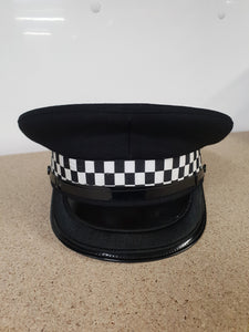 Genuine Inspector Black Banded Flat Peaked Cap Collectors A
