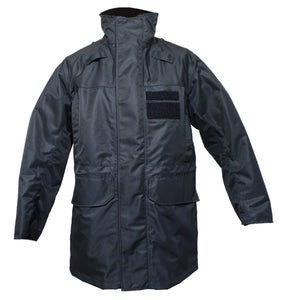 Polyester 3/4 Length Black Waterproof Rain Latest Design Coat BPC03A