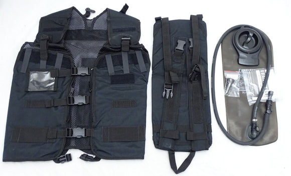 New Police Black Remploy Frontline Hydration Tactical Vest MK2 Pouch And Bladder
