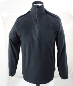 Churchill Black Lightweight Fleece 100% Polyester 1/2 Zip Security BLAFLC01A