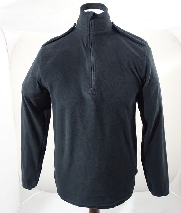 Churchill Black Lightweight Fleece 100% Polyester 1/2 Zip Security BLAFLC01B