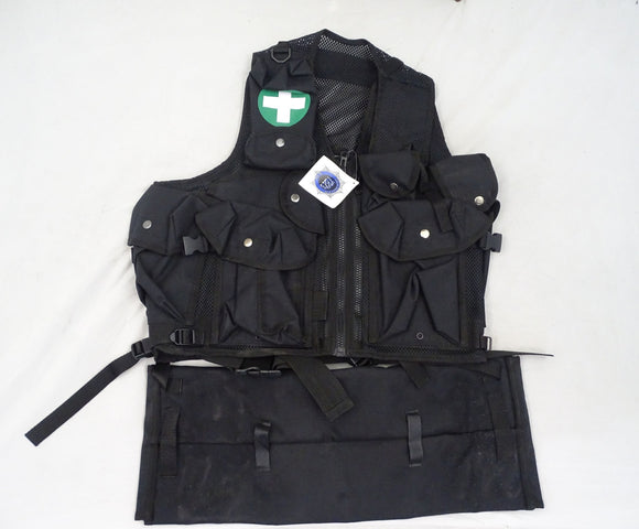 Black Tactical Medic Vest Tac Vest Security Dog Handler Like Arktis K175 BV07