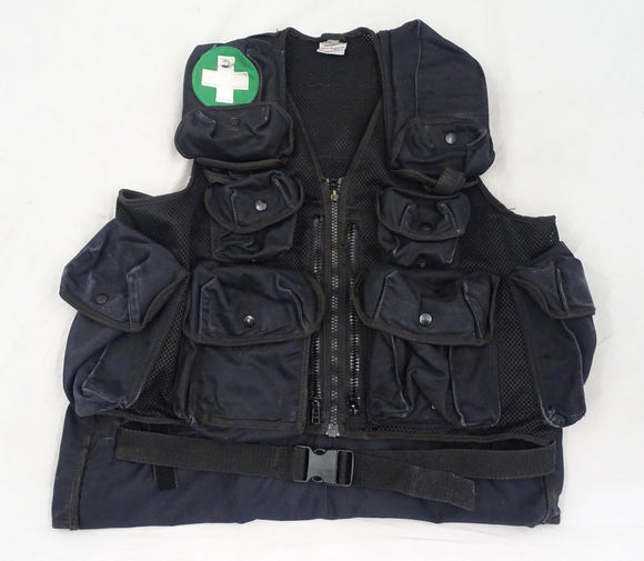 Black Tactical Medic Vest Tac Vest Security Dog Handler Like Arktis K175 BV08