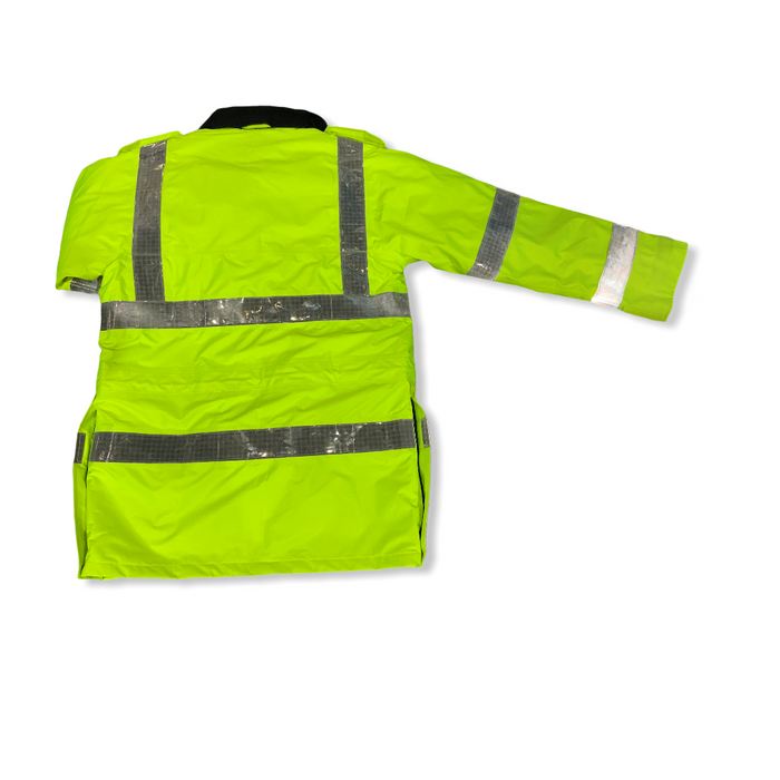 Hi Vis Jacket Waterproof Rain Coat Security Dog Handler HVPC10B