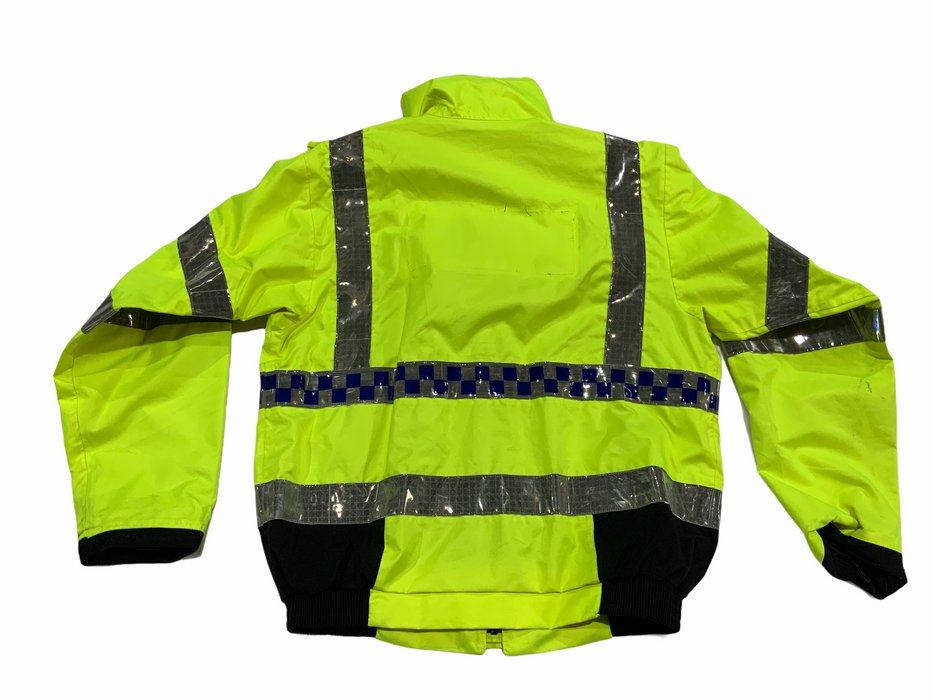 Hi Vis Waterproof Polyester Bomber Jacket Recovery Security Dog Handler HVPBJ1A