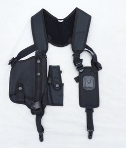 New Ex Police Protec Black Covert Harness, Covert Vest With CS Baton Cuffs Pouch