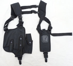 New Protec Black Covert Harness Covert Vest & CS Baton Cuffs Pouch CH02N