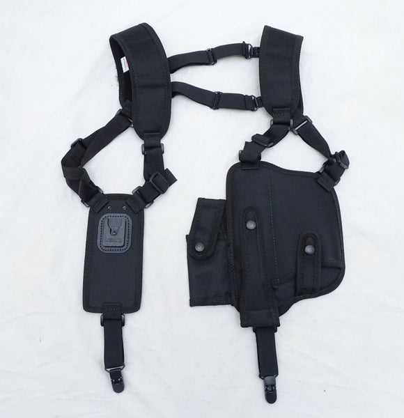 Protec Black Covert Harness Covert Vest & CS Baton Cuffs Pouch CH02A