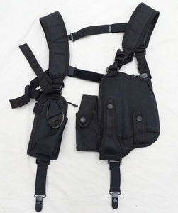 Protec Black Covert Harness Covert Vest & CS Baton Cuffs Pouch CH03A