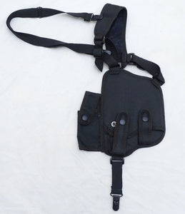 Protec Black Covert Harness Covert Vest & CS Baton Cuffs Pouch CH04A