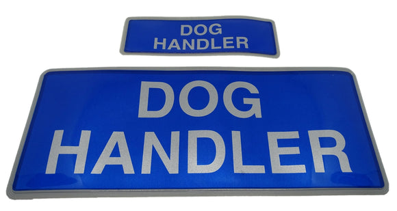 Encapsulated Reflective Dog Handler Badges Sewn On Or Hook And Loop S & M