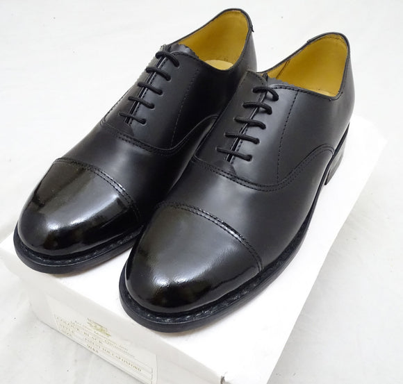 New Ammo & Co Patent Toe Cap Oxford Shoe Parade Shoes UK 7, 8, 9, 11