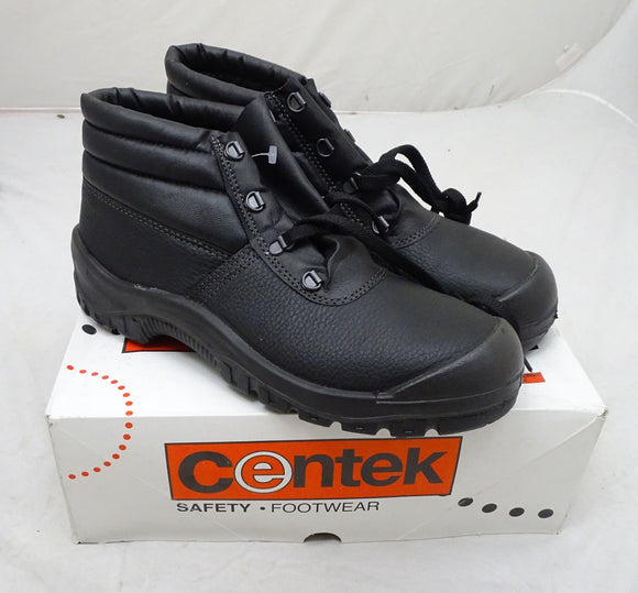 New Centek Black Chukka Safety Boots Work Boots With Steel Toe Cap UK 10