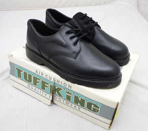 New Tuffking 4000 Mens Gibson Air Cushion Black Leather Uniform Shoes UK 7 & 12