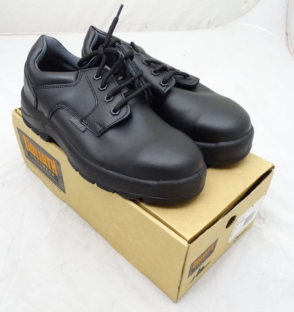 New Goliath Footwear SPP16SI Black Work Safety Shoes Steel Toe Cap Leather 8 11