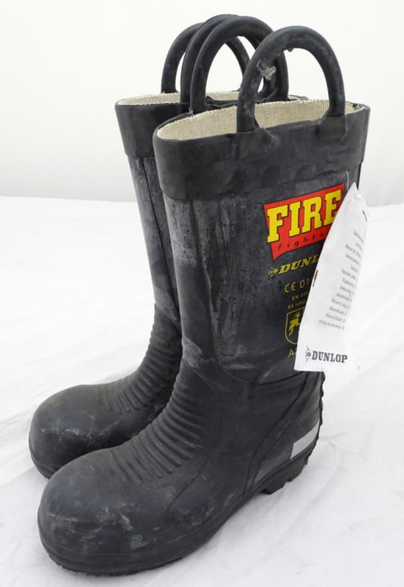 Dunlop Steel Toecap Fire Fighter Fireman Wellington Boots