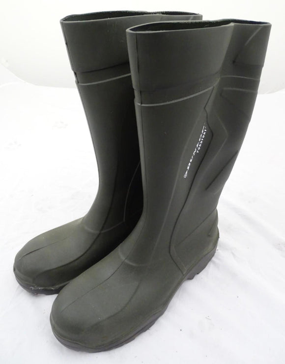 Army Green Dunlop Purofort Steel Toe Cap Wellington Boots US 16/17 EU 49/50