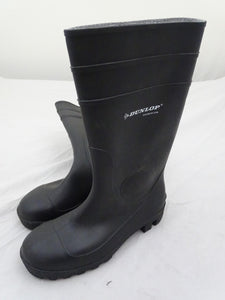 Black Dunlop Steel Toe Cap Wellington Boots