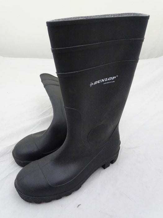 New Black Dunlop Steel Toe Cap Wellington Boots