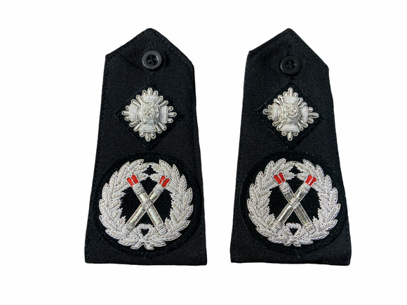 Obsolete Original Issue Deputy Chief Constable Police Rank 3D Epaulettes Black